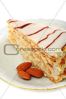 Almond cake Esterhazy.