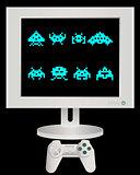 joystick and monitor