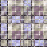 Seamless checkered gray and blue pattern