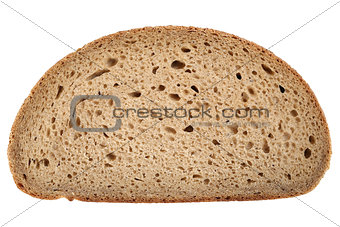 Slice of a wheat bread