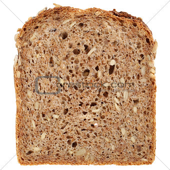 Slice of a whole wheat bread