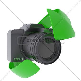 Camera and arrow