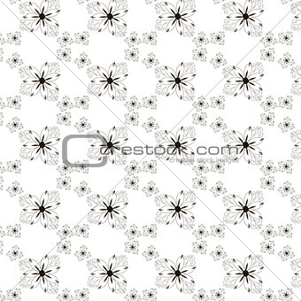 Classic decorative seamless vector black and white texture