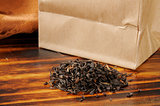 Brown bag of loose leaf black tea