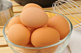 Farm fresh brwon eggs