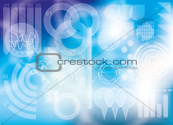 Modern virtual technology background