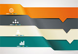 Modern minimal business step style options banner infographics