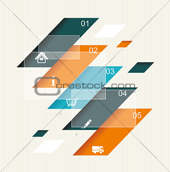 Modern step origami style options banner.