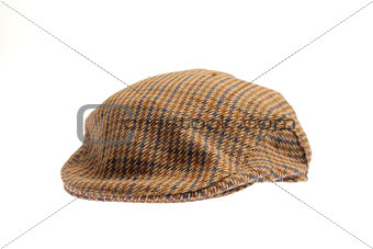 Wool tweed gentleman's cap