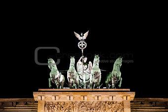 Brandenburg Gate statue