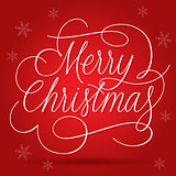Merry Christmas Greetings Slogan on red background