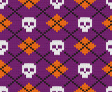 Seamless fabric pattern for Halloween design.