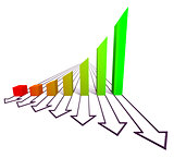Arrowed business chart color