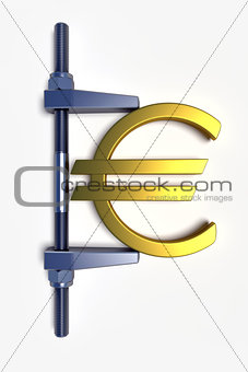 abstract euro golden sign