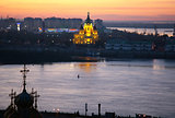 Evening view of Alexandr Nevsky Cathedral Nizhny Novgorod