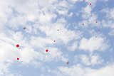red baloons in the sky