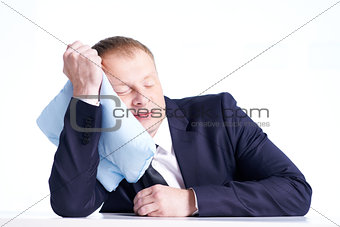 Businessman having rest