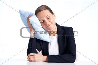 Businesswoman napping