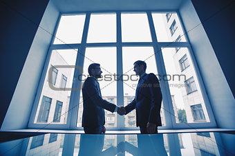 Men handshaking