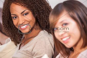 Beautiful Mixed Race African American Girl & Chinese Asian Frien