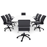 Office chairs and round table