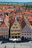 View of the village of Rothenburg ob der Tauber