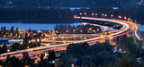 Interstate 205 Freeway Over Columbia River at Dusk