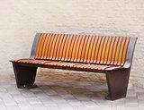 Wooden park bench.