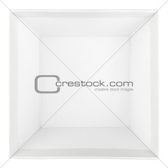 Top view of empty square box