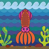 Stylize squid