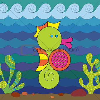 Stylize Seahorse