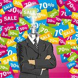 Vector Businessman In Suit