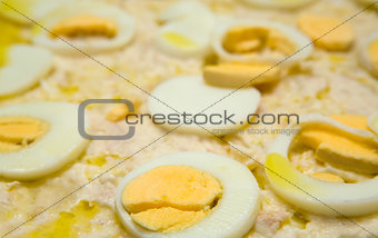 Potato Salad covered with mayonnaise