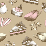 Vintage sweet cake background.
