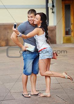 Portrait of beautiful couple