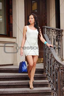 Beautiful  woman with shopping bag