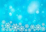 Holiday blue background with snowflakes. Vector illustration.