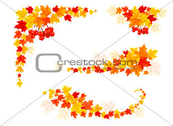Autumn backgrounds with leaves. Vector illustration.