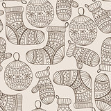 Vector Seamless Winter Chrostmas Pattern
