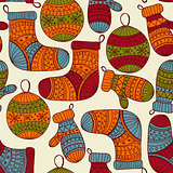 Vector Seamless Winter Christmas Pattern StockPhoto