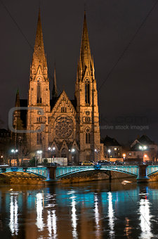 Cathedral in the dark