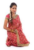 Indian girl in sari clothes