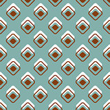 Seamless geometric colorful pattern background
