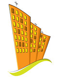 group of residential buildings. Vector illustration