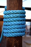 blue rope fence