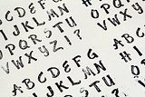 rubber stamp alphabet