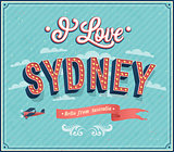Vintage greeting card from Sydney - Australia.