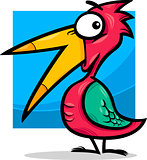 cute little bird cartoon illustration