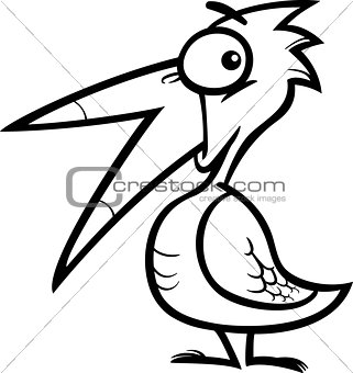 little bird cartoon for coloring book