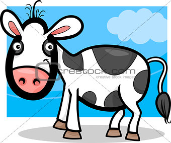 calf baby farm animal cartoon illustration